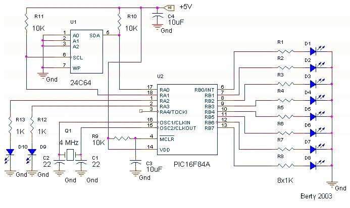 i2c serial memory interface - schematics